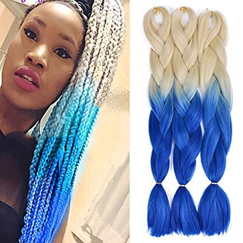 24 '' 100g / pc Synth¨¦tique Tressage Cheveux Crochet Tresses Coiffures Extensions de Cheveux Synth¨¦tique Cheveux pour Tressage
