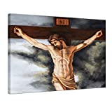 Bilderdepot24 Bild auf Leinwand | Jesus am Kreuz I in 80x60