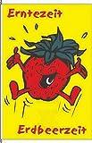 Königsbanner Hochformatflagge Obst Erdbeere (Nur Hochformat) - 150 x 400cm - Flagge und Fahne