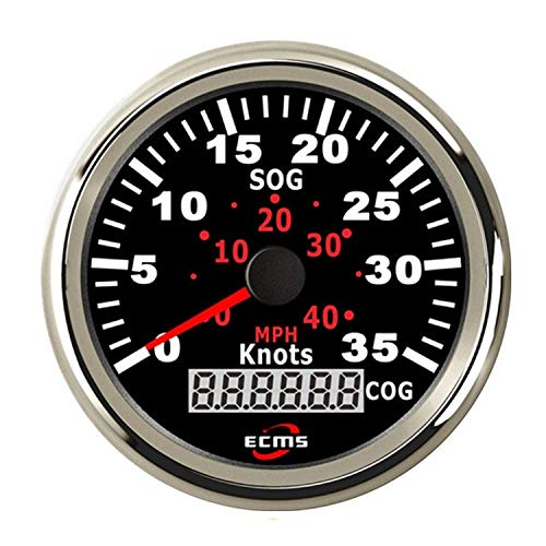 Autometermeter GPS Tacho Kilometerzähler 0-35Knots 0-40MPH for Boote Yacht Schiffe Mit Hintergrundbeleuchtung 3-3/8 '' (85mm) 12V / 24V
