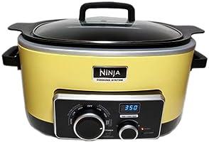 Sistema de cocción 4 en 1 NINJA, 6 cuartos de galón (reacondicionado certificado), Amarillo, 5.67 L, 1