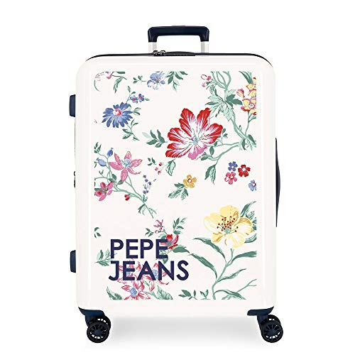 Pepe Jeans Leven Maleta mediana Multicolor 48x70x26 cms Rígida ABS Cierre TSA 81L 4,2Kgs 4 Ruedas Dobles Extensible