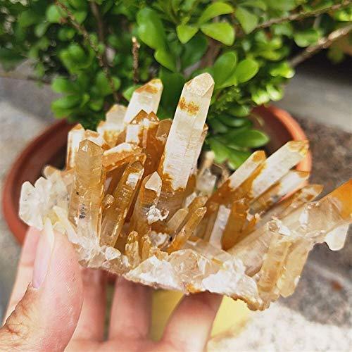 DANHUI Regalo Familiar 336g Hermoso espécimen en Bruto drusa de Piedras Preciosas Cristal de Cuarzo Crudo Natural Clúster de Muestra Clúster fengshui Decoración