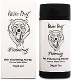 White Wolf Polvere volumizzante istantanea, facile applicazione, non testata sugli animali e vegana, 20 g