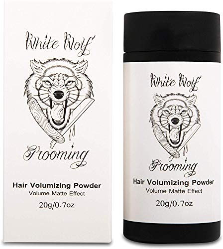 White Wolf Hair Styling Powder for Men — Instant Thickening Volumiser Dust for Fine & Thinning Hair — Firm Hold & Matte Finish — Cruelty Free, Natural & Vegan