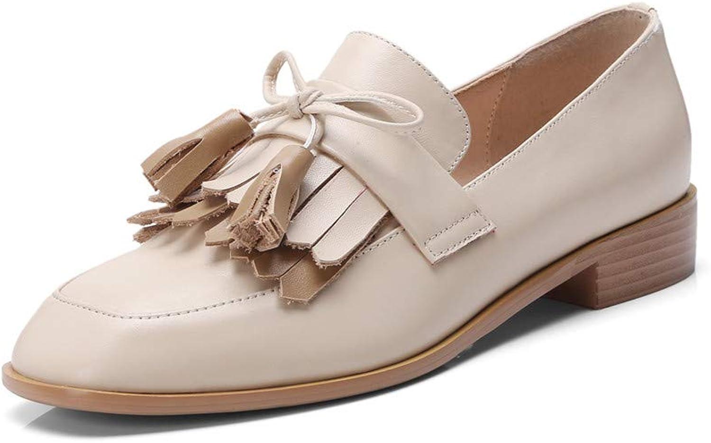 Nio Seven Woherrar Woherrar Woherrar Genuine läder Square Toe Low Heel Handsy Glassy and Comfortable Pumps skor  snabb leverans och fri frakt på alla beställningar