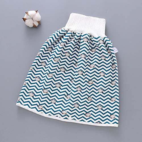 FinWell Comfy Childrens Diaper Skirt Shorts 2 in 1 Waterproof Leak-Proof Washable Baby Kid Diaper Skirt Training Pants