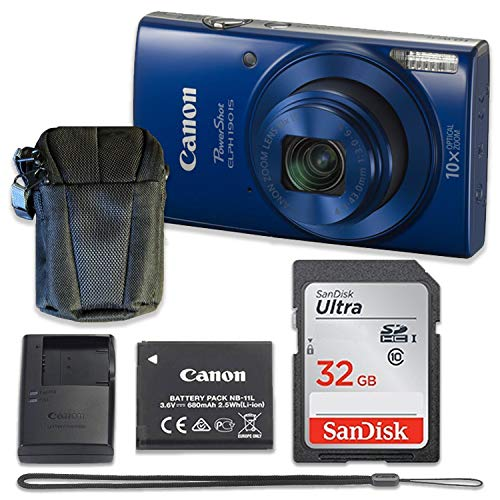 Canon PowerShot ELPH 190 is Digital Camera (Blue)...