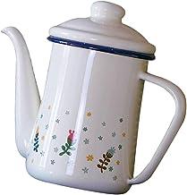 MagiDeal Emaliowany dzbanek do herbaty luźna herbata liść dzbanek do herbaty nad kawą dzbanek do herbaty czajnik elektrycz...