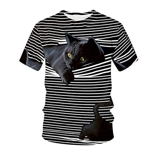 Camisetas para Hombre y Mujer,Unisex 3D Patrón Impreso T-Sh