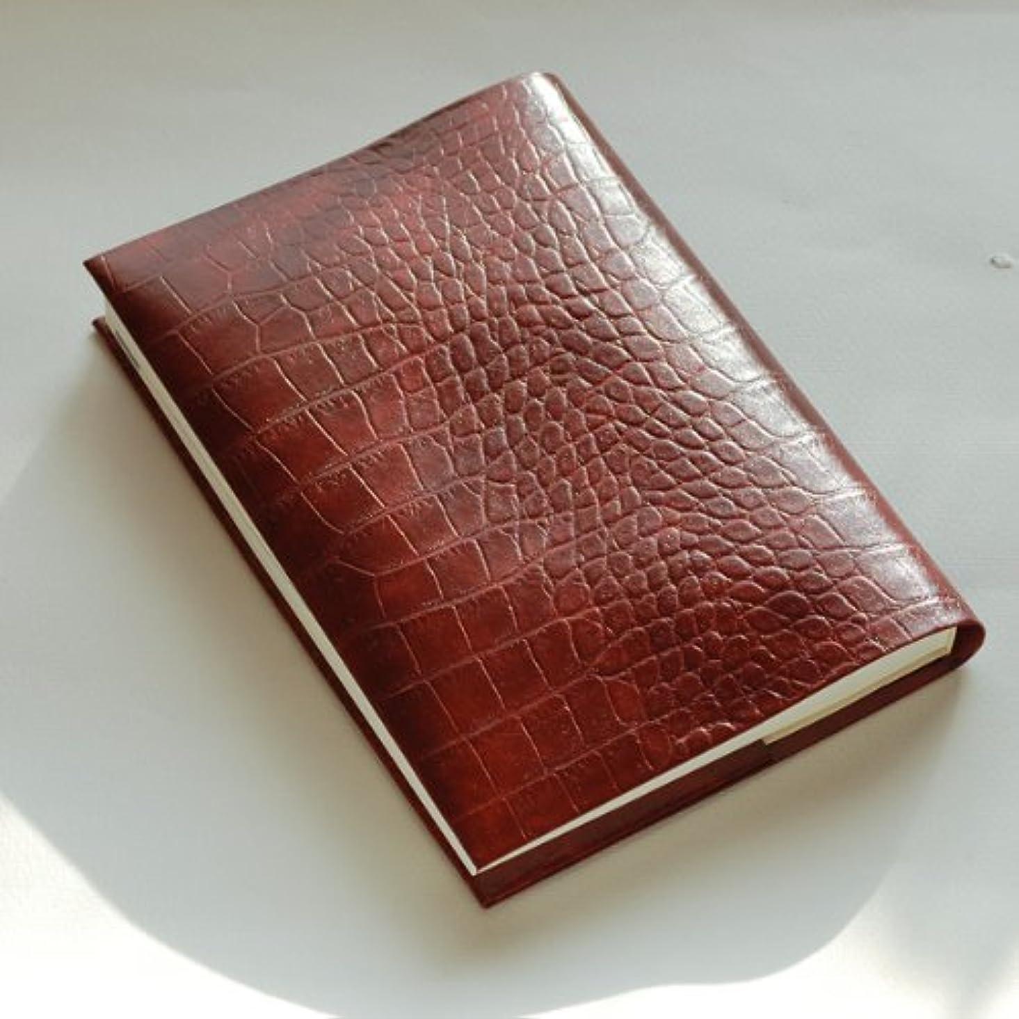 活気づくモッキンバードファイターほぼ日手帳 カズンサイズ用手帳カバー (クロコダイル型ワインレッド)