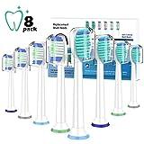 8pcs têtes de brosse à dents Brosses de rechange pour Philps Sonicre ProResults...