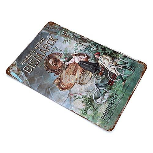 XREE Fahrrad Werke Bismarck G.M.B.H Art Blechschild Vintage Wohnaccessoires displate Blechschilder Retro Metallschilder Eisenmalerei rostiges Poster 30 x 40 cm