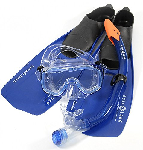 Aqua Lung Grenada JUNIOR Tauchset Tauchmaske, Schnorchel & Flossen 125748 (EU 28-30)