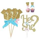 Vivo - Decoración para tartas con diseño de cupcakes, tarjeta de sexo, para fiesta de bebé, para fiesta de nacimiento, para decoración de fiestas, fiestas de bebé
