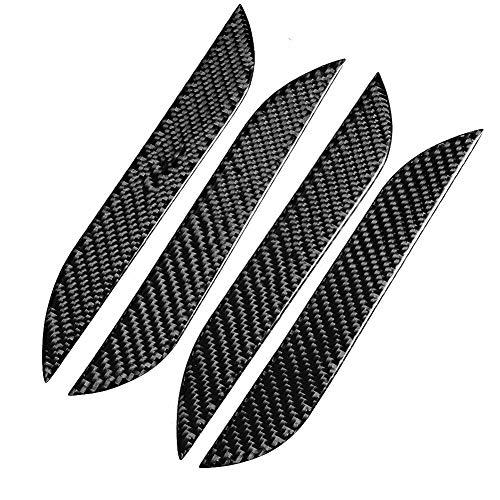 CMHZJ 4 Pcs Cubiertas De La Manija De La Puerta Lateral del Coche ABS Tiradores Exteriores para Tesla Model S 2014-2018(Carbon Fiber)