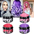 Temporary Hair Color Wax - Silver Grey Red Purple Blue Pink Gold Temporary Hair Dye Instant Natural Matte Hairstyle Cream coloring for Men Women Kids Party Cosplay Date Halloween