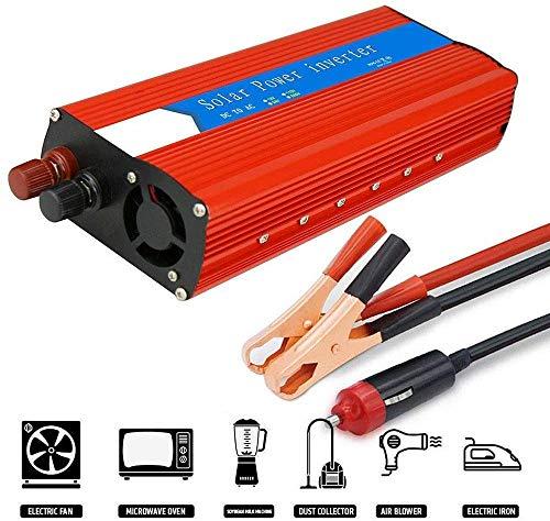 JHKJ-Inverter 3000 W (Peak 6000 W), Reiner Sinus-Wechselrichter, DC 12V / 24V zu AC 110V / 230V Spannungswandler, Autoladegerät mit USB-Anschluss,220v,12V