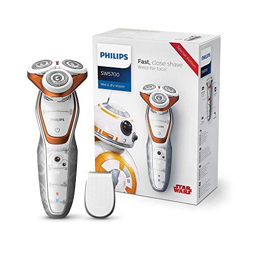 Philips Elektrischer Nass-und Trockenrasierer Series 5000 Star Wars Special Edition mit ComfortCut-Klingen SW5700/07, Präzisionstrimmer