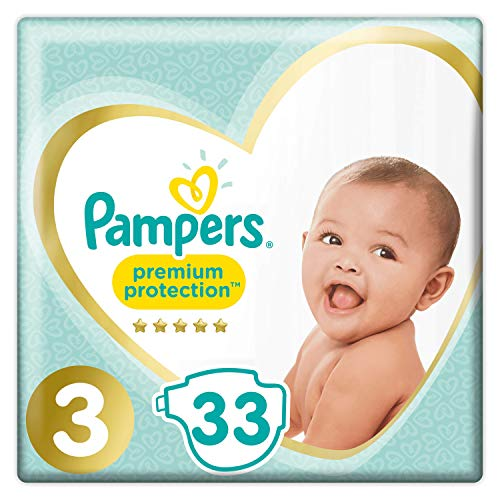 Pampers Premium Protection Windeln, Gr. 3, 33 Windeln