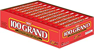 100 Grand Milk Chocolate Candy Bars, Full Size Bulk Individually Wrapped Ferrero Candy (Pack of 36)