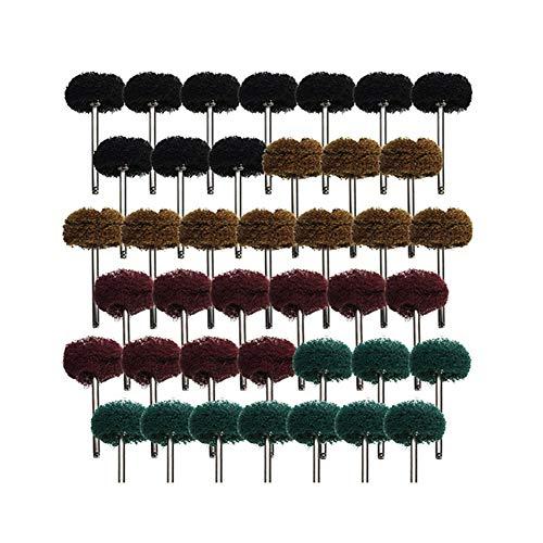 Mitening 40 Stück 2,5 cm Schleifmittel Polierscheiben, Polierzubehör für Dremel Rotations Werkzeuge Körnung 80 150 240 300 für Dremel Rotary Werkzeuge