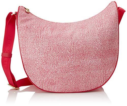 Borbonese Luna Bag, Borsa a Tracolla Donna, Rosa (Ravanello), 35x38x15 cm (W x H x L)