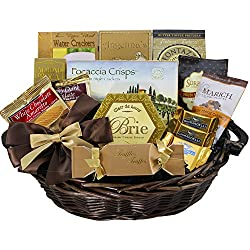 Classic Gourmet Food And Snack Gift Basket Medium Chocolate Option