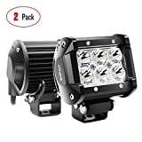 Nilight - 60001SB Led Pods 2PCS 18W 1260LM Spot Led Off Road Lights Super Bright Driving Fog Light Boat Lights Driving Lights Led Work Light SUV Jeep Lamp, 2 Years Warranty