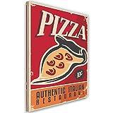 Leinwandbild Pizza Bild Kunstdruck Poster-Vorlage Rot 40x60