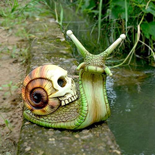 N.S 1 escultura de caracol, decoración gótica, estatua de caracol para patio, caracol y caracol, varios colores