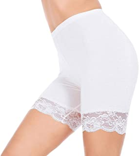Slip Shorts for Women Short Leggings Mid Thigh Legging Plus Size Lace Undershorts