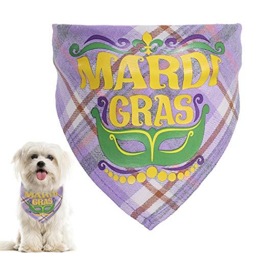 ZOYLINK Dog Bandana Ajustable Plaid Lavable Tringulo Color Algodn Gato Babero para Brasil Carnaval Cachorros Gatito Baberos