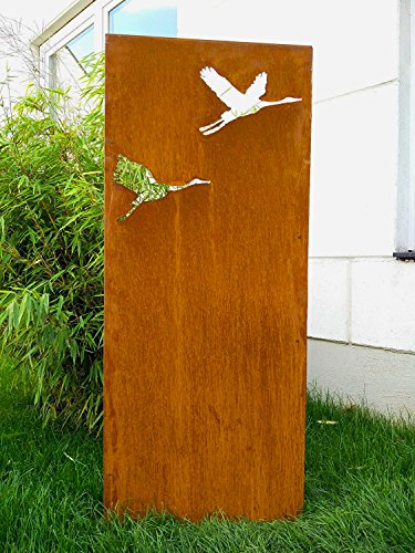 Zen Man Garteninspiration Sichtschutz aus Naturrost