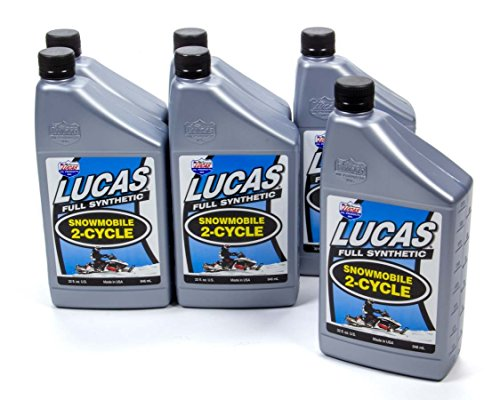 Lucas Oil 10835-6 Oil Synthetic Case (2 Cycle Snowmobile, 6x1 Qt.), 1 Pack