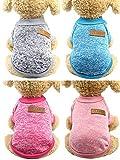 SATINIOR 4 Pièces Vêtements d'hiver pour Animaux de Compagnie Pull Chaud Classique Manteau Épais de Chiot Vêtements Tricot Chiot