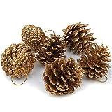 XINDUI Conos de Pino Natural Adornos de piña de Navidad Adornos de árbol de Navidad Adorno Colgante para decoración de Fiesta en casa