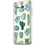 Compatible con la funda Sony Xperia XZ2 Compact, funda de arte pintado, diseño transparente, silicona TPU, funda transparente para móvil, funda transparente con higo de cactus