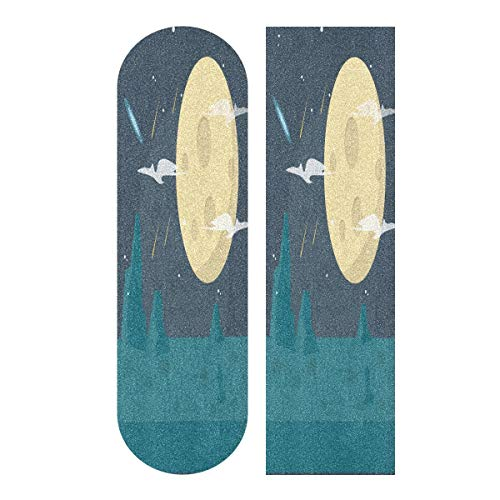 LDIYEU Mond Meteor Planet Wallpaper Skateboard Griptape rutschfest Selbstklebend Longboard Griptapes Aufkleber Griffband 33