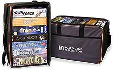 Board Game Bag - [Backpack/Shoulder Strap/Luggage Slip] - Padded Board Game Carrier (Oxford Gray)