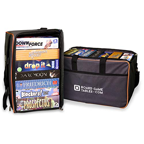 Board Game Bag - [Backpack/Shoulder Strap/Luggage Slip] - Padded Board Game Carrier (Oxford Gray)