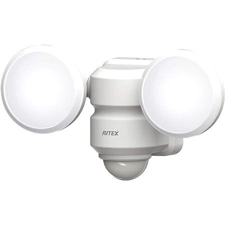 ムサシ(MUSASHI) センサーライト ホワイト 本体サイズ: 幅 18.8 × 奥行 8 ×高さ 10.7 cm 5W×2灯 LEDセンサーライト LED-AC206