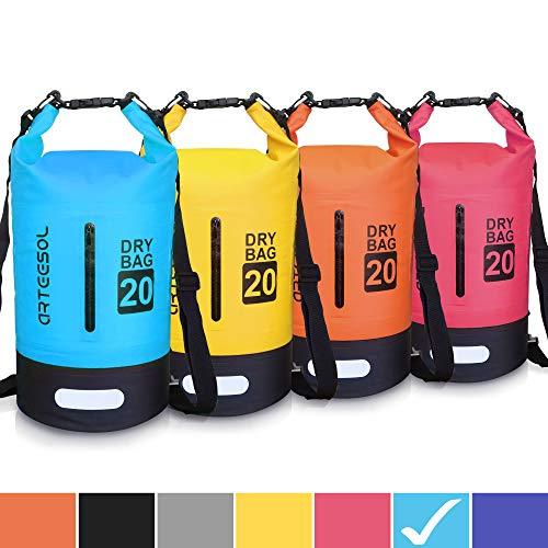 Blackace Dry Bag, 5L 10L 20L 30L WaterProof Dry Bag/Sack Waterproof Bag with Long Adjustable Strap for Kayaking Boat Tour Canoe/Fishing/Rafting/Swimming/Snowboarding (Blue-Black, 10L)