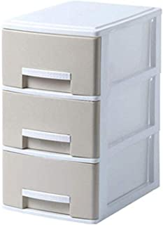 GAOLILI Classeurs Armoires fichiers séparateurs 3 Tiroirs Dortoir Armoire de Rangement Boîte de Rangement en Plastique Vêt...