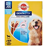 Pedigree Dentastix Snack per l'Igiene Orale (Cane Grande 25 kg), 105 Pezzi