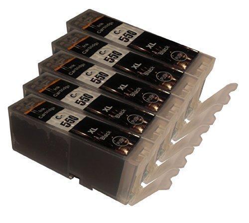 5 XL Tintenpatronen für Canon Pixma IP 7200 Serie iP7250 ip8700 Serie iP8750 MG5400 Serie MG5450 MG 5500 Serie MG5550 MG5600 Serie MG5650 MG6300 Serie MG6350 MG6400 Serie MG6450 MG6600 Serie MG6650 MG7100 Serie MG7150 MG7550 iX6850 MX725 MX925 ersetzt PGI-550 Pixma Serie mit Chip Black Schwarz