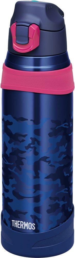 サーモス 水筒 真空断熱スポーツボトル 【ワンタッチオープンタイプ】 1.0L ネイビーカモフラージュ FHQ-1001 NV-C