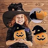 Stuffed Pumpkin Plush Toy, Halloween Soft Pumpkin Shaped Throw Pillow, Durable Halloween Plush Doll, Halloween Pumpkin Doll Decorative Pillows Gifts for Kids (Pumpkin Doll)
