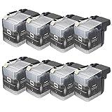 LC509XL LC505XL - Cartuchos de tinta de repuesto para impresora de inyección de tinta Brother DCP-J100 DCP-J105 MFC-J200 (8 unidades)