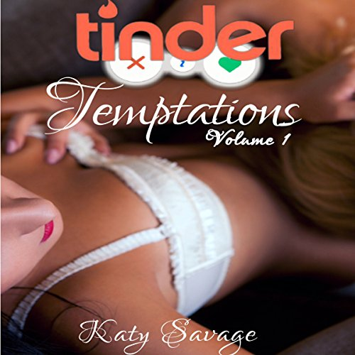 Tinder Temptations - Volume 1: A Steamy First Time Lesbian Bisexual Romance Menage FFM audiobook cover art